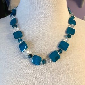 Blue Mother of Pearl(Dyed) Necklace